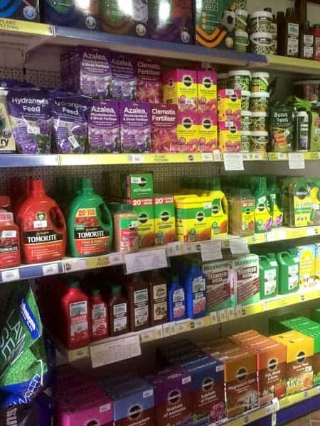Fertilisers available at Bumbles Plant Centre
