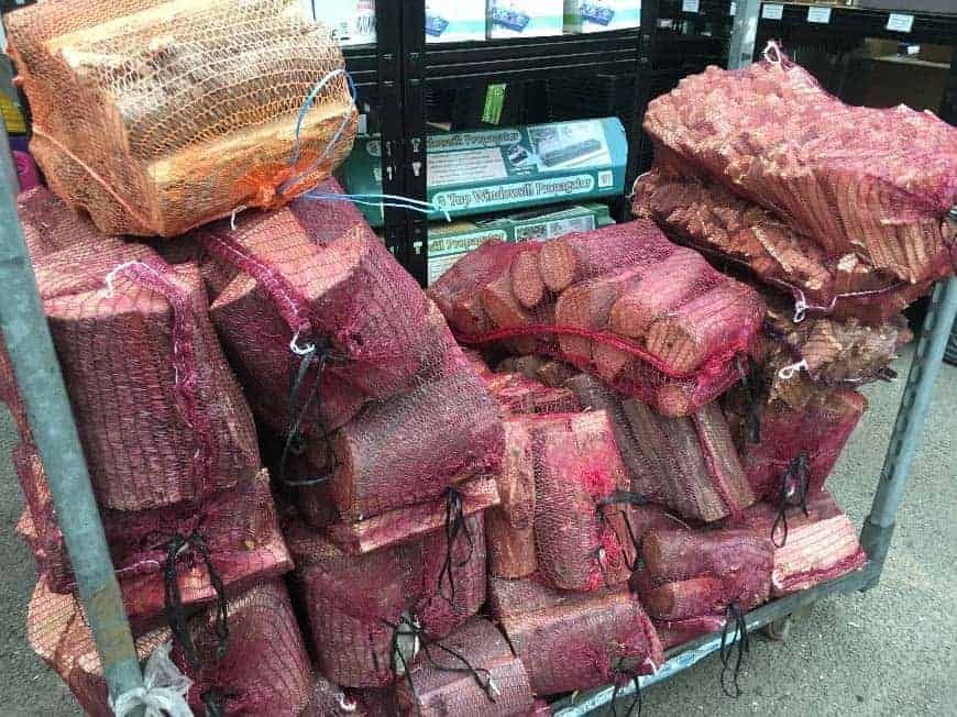 Logs and Kindling available at Bumbles Plant Centre