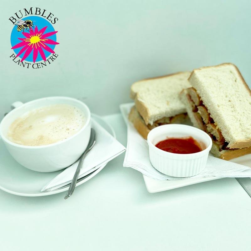 Breakfast sandwich at Bumbles, April 2021