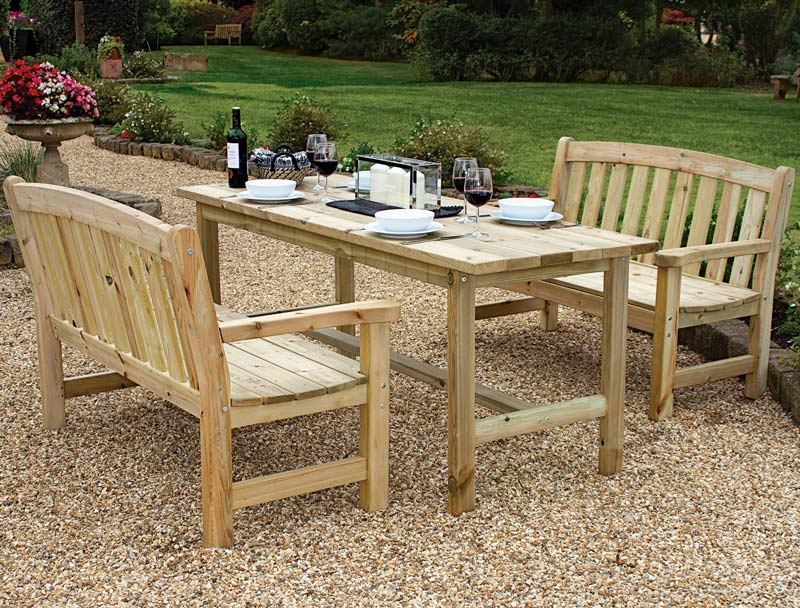 Emsworth Wooden Dining set available at Bumbles, April 2021