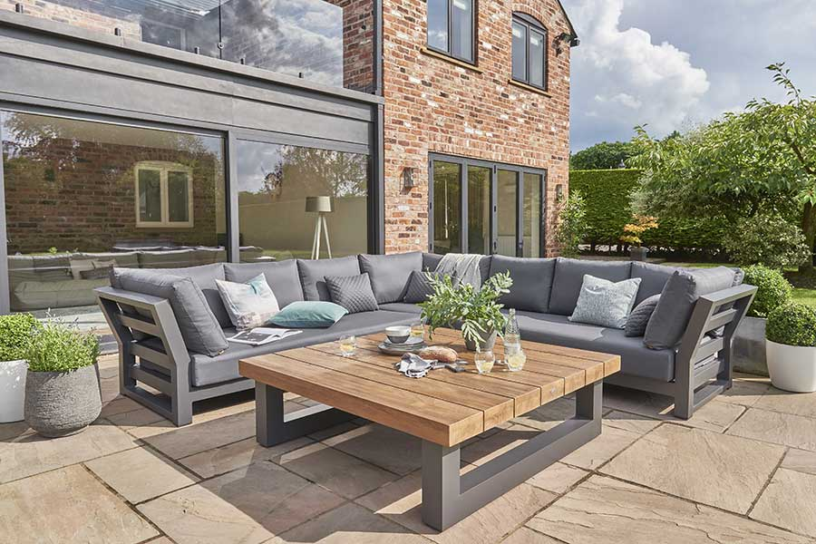 Norfolk Leisure outdoor lounge seating at Bumbles