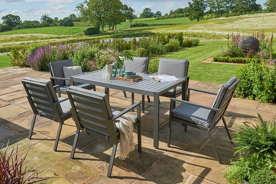 Norfolk Leisure Titchwell 6 seat dining table & chairs at Bumbles