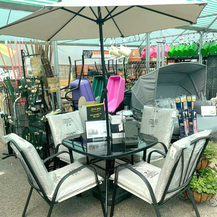 Patio sets & garden furniture at Bumbles, July 2021